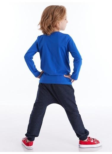 Mushi Cool Pizza Erkek Çocuk Pantolon Takım Mavi